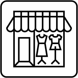 販売促進活用シーン バルーン事例 ショーウィンドウ