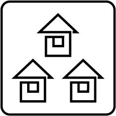 販売促進活用シーン バルーン事例 住宅、不動産展示場