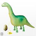 お部屋は恐竜博,恐竜,風船,バルーン,お散歩スーパーサウルス